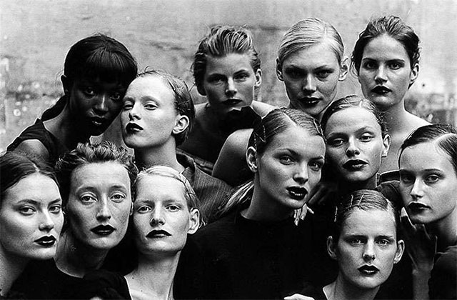 Conjunto de top-models by peter lindbergh.