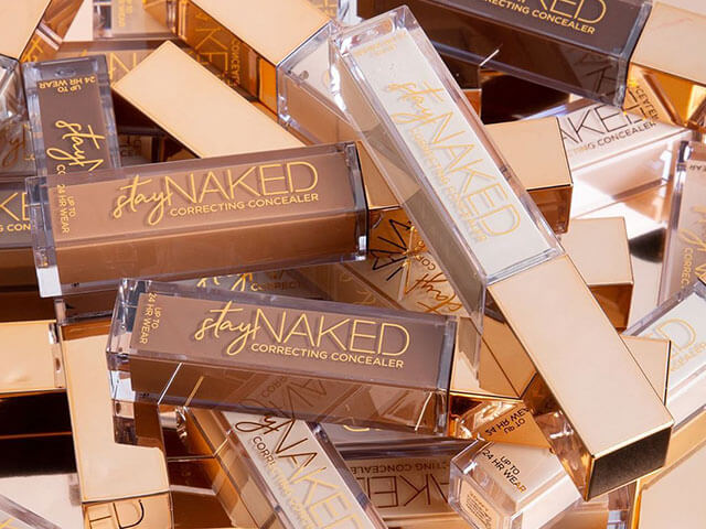 Colección de tonos de la base stay Naked de Urban Decay.