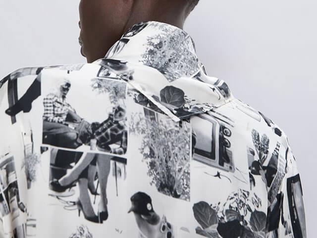 Camisa estampado fotográfico de Zara.