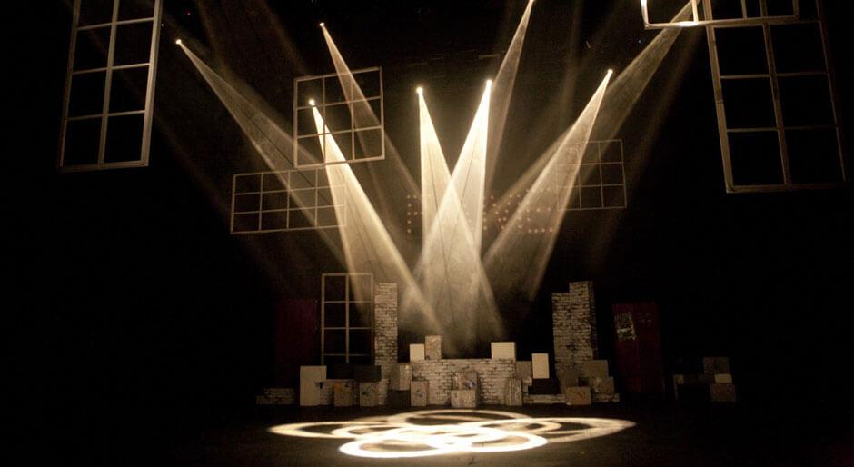 iluminación para teatro.