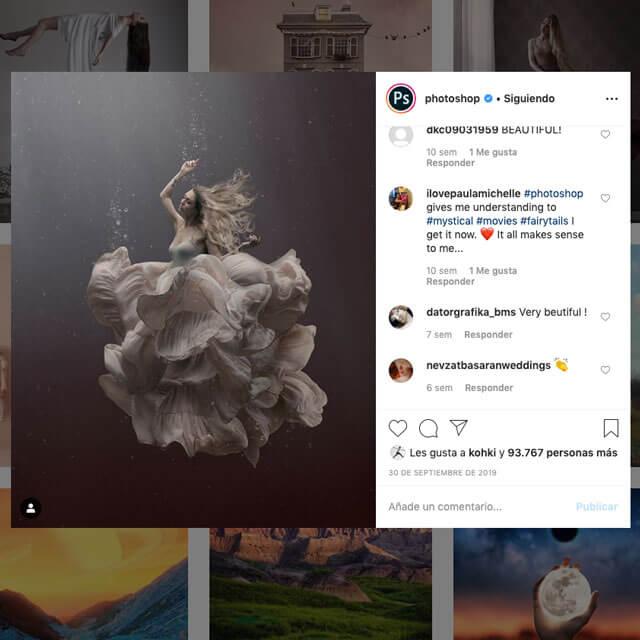 Instagram Oficial de Adobe Photoshop.