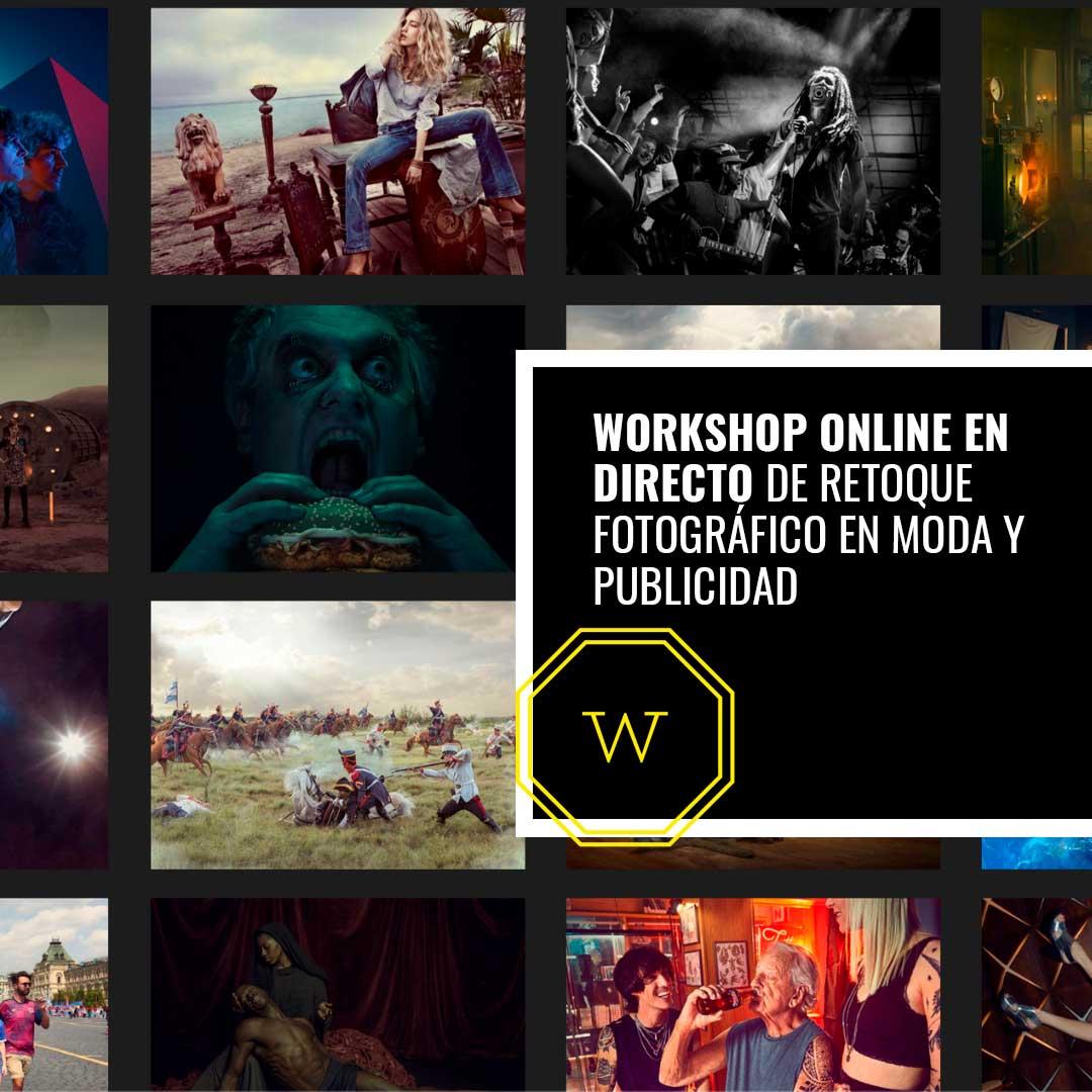 Workshop Online en directo de Retoque Fotográfico de Moda y Publicidad