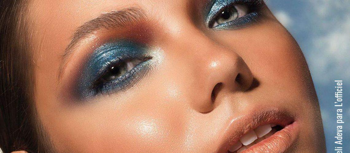 Maquillaje iridisciente